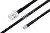 MIL-DTL-17 BNC Male to SMA Male Cable 48 Inch Length Using M17/84-RG223 Coax -- PE3M0033-48 -Image