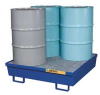 Spill Pallet,4 Drum Square,Blue -- 4WLX4