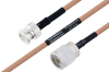 MIL-DTL-17 BNC Male to N Male Cable 30 Inch Length Using M17/128-RG400 Coax -- PE3M0058-30 -Image
