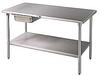 Type 304 Stainless Steel Worktables -- 5536700