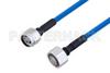 Plenum N Male to 4.1/9.5 Mini DIN Male Low PIM Cable 50 CM Length Using SPP-250-LLPL Coax , LF Solder -- PE3C4140-50CM -Image