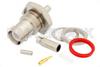 RP BNC Female Bulkhead Connector Crimp/Solder Attachment For RG174, RG316, RG188, .480 inch D Hole -- PE4752 -- View Larger Image
