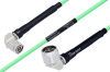 Temperature Conditioned TNC Male Right Angle to N Male Right Angle Low Loss Cable 100 cm Length Using PE-P142LL Coax -- PE3M0173-100CM -Image