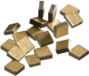 NTC Leadless Chip Thermistors -- Gold Leadless Chip - 0.1K1CG2 - Image