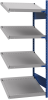 Open shelving with 4 sloped shelves (FIFO) (End side-by-side unit) -- SRC1F-DH750401 - Image