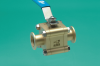 High Vacuum Ball Valve -- Manual, Brass Body, ISO-QF Ports - Image