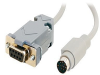Cables to Go - Serial cable - DB-9 (F) - 8 pin mini-DIN (M) -- 25041
