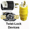 Locking Flanged Inlet Receptacle Metallic 50A 250VDC/600VAC 3P -- 78358523787-1 - Image