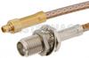 SMA Female Bulkhead to MMCX Plug Cable 24 Inch Length Using RG316 Coax -- PE35575-24 -Image