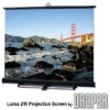 Large, Portable Spring-Roller Operated Projection Screen -- Luma 2/R