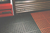 Work-Cushion® Tile, Open grid, Size 3' x 3', Red (Grease-proof ) -- DC-1190
