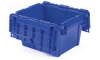 Attached-Lid Cont,11-3/4x9-3/4x7-3/4,Blu -- 10E125 - Image