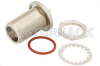 SC Female Bulkhead Mount Hermetically Sealed Connector Solder Attachment Eyelet Terminal, .655 inch D Hole -- PE4980 -Image