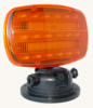LED Strobe Light (battery powered) with Adjustable Locking Magnetic Base - AMBER LENS - SL-ALM-A -- SL-ALM-A