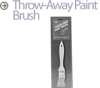 Display Brushes -- Throw-Away Paint Brush
