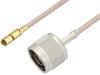 N Male to SSMC Plug Cable 48 Inch Length Using RG316 Coax -- PE3C4415-48 -Image