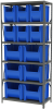 Shelving, Steel Shelving Kit 18x36x79, 12 Bins -- AS1879ASORTB - Image