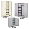 HEAVY DUTY WARDROBE CABINET With hat shelf, coat rod & 2 hooks. -- H427-W