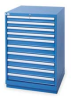 Modular Storage Cabinet,10 Drawers,Blue -- 3NYJ5