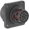 connector,metal circ,panel recept,frontmount,for 17+ground crimp pin contact -- 70013517