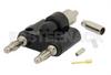 Banana Plug Connector Crimp/Solder Attachment for RG188-DS, RG316-DS -- PE45164