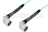 N Male Right Angle to N Male Right Angle Low Loss Cable 12 Inch Length Using PE-P142LL Coax, RoHS -- PE3C0967-12 -Image