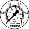 Flanged pressure gauge -- FMA-50-2,5-1/4-EN - Image