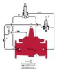 Ductile Iron Pressure Reducing Control Valve with Downstream Surge Control Feature -- LF910GD-11 - Image