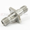 2.92mm Female (Jack) to 2.92mm Female (Jack) 4 Hole Flange Adapter, Passivated Stainless Steel Body, 1.3 VSWR -- SM3228 - Image