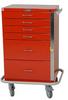 GP Line Emergency Cart Six Drawer Standard Package 6140 -- 6140