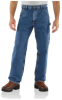Men's Washed Denim Work Dungaree -- CAR-B13