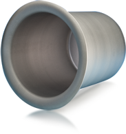 Formed molybdenum and tungsten crucibles excel in the so-called HEM process (Heat Exchanger Method). They are the perfect vessels for melting and solidifying the single crystal.