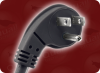 NEMA 5-15P 45 ANGLE (2 O'CLOCK GROUND PIN) to SPLIT SPECIAL HOME • Power Cords • North American Power Cords • 3 Conductor Power Cords -- 1021.024S - Image