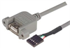 USB Type A Adapter, Female Bulkhead/Female Header 1.0m -- UPMA5-1M