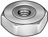 Hex Nut,Nickel-Plated Brass,Sealing,Pk5 -- 5NB70