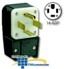 Leviton 3-Pole 4-Wire Flush Mount Receptacle Matching.. -- 9462-P