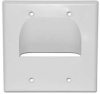 Skywalker Signature Series Inverted Dual Gang Bundled Wall Plate White -- SKY05065WD