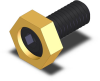Hex Cam Clamp - Brass - M4 Thread -- MB-50212