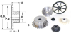 Roller Chain Sprockets With Hub (inch) -- A 6M 7-3709 - Image