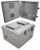 18x16x10 Polycarbonate Weatherproof Outdoor IP24 NEMA 3R Enclosure, Modified Base Vented Lid DKGY -- TEPC181610-03V -Image