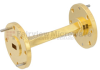 WR-22 45 Degree Waveguide Left-hand Twist Using a UG-383/U Flange And a 33 GHz to 50 GHz Frequency Range -- SMW22TW1002 - Image