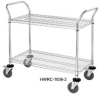CHROME WIRE SHELVING CARTS -- HWRC-2442-2