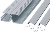 Narrow Slot Dual Channel DIN Rail Duct standard White PVC -- 07498311711-1