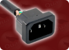 IEC-60320-C14 INLET to IEC-60320-C13 RIGHT ANGLE HOME • Power Cords • IEC/Jumper Power Cords • Universal -- 3514.024S -Image