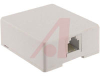 MODULAR SURFACE JACK, 6-CONDUCTOR, WHITE -- 70159764 -- View Larger Image