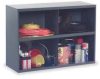 Stackable Bin Storage Unit,4 Bins, Gray -- 329-95