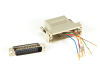 Gray Modular Adapter Kit DB25 Male to RJ45 Female -- FA4525M-GY -- View Larger Image