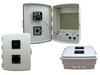 14x10x04 ABS Plastic Indoor IP54 NEMA 12 Enclosure, Hook & Loop Mounting, Fan & 48 VDC PoE outlets Gray -- TEP141004-40F -Image