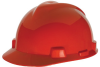 MSA V-Gard® Cap, Red, Slotted, Staz-On® -- 463947 -- View Larger Image