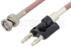 BNC Male to Banana Plug Cable 72 Inch Length Using RG142 Coax -- PE33440LF-72 -Image